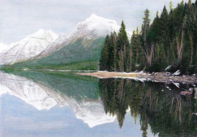 coloring glacier national park, donna hull, glacier national park, montana, coloring book for travelers