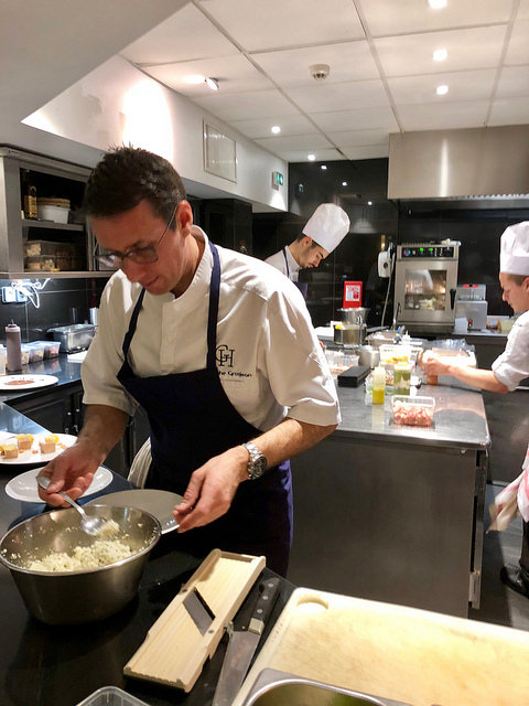 chef christophe grosjean, locean, grand hotel thalasso, saint jean de luz, france