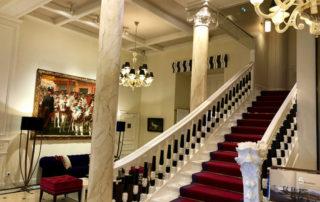 hotel lobby, grand hotel thalasso, saint jean de luz, france, nouvelle aquitaine