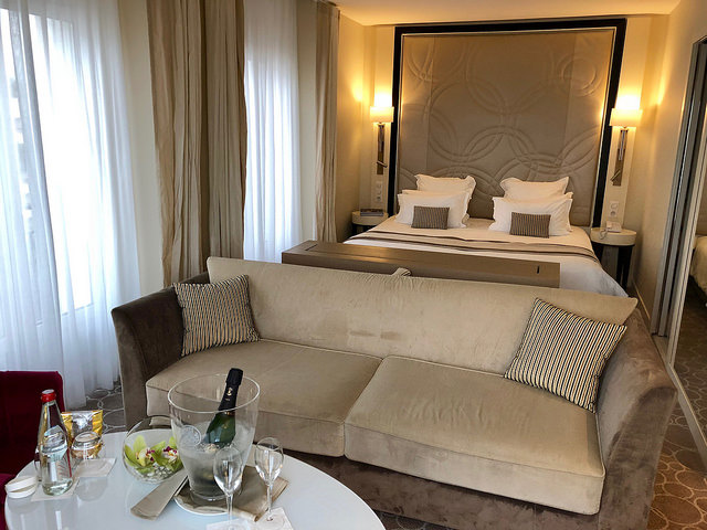ocean view junior suite, grand hotel thalasso & spa, saint jean de luz, france