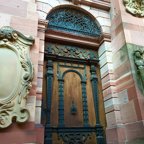 heidelberg castle, architecture, door, germany