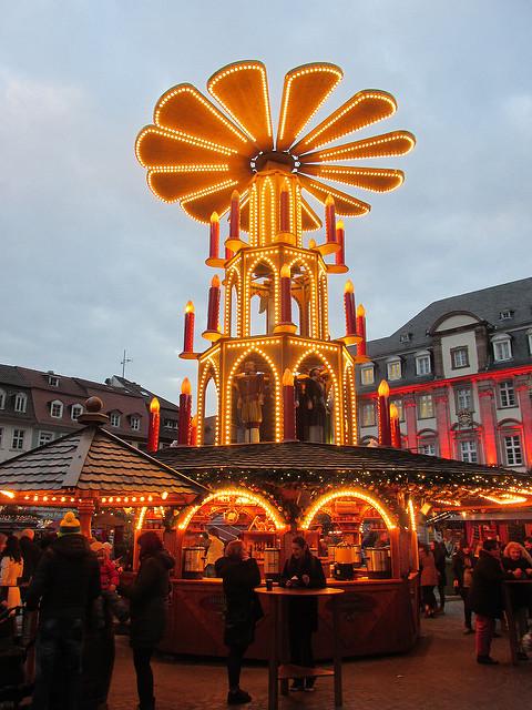 christmas pyramid, heidelberg christmas pyramid, heidelberg christmas market, germany
