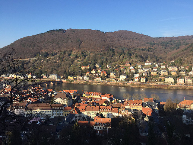 neckar river, old bridge, heidelberg, germany