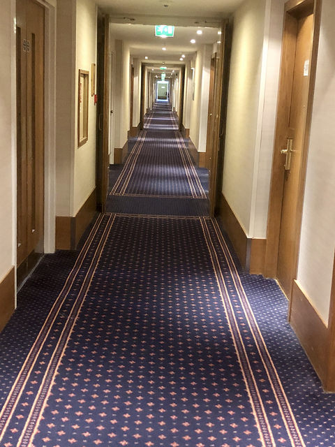 hilton london gatwick hotel review, hilton london gatwick hotel hallway, united kingdom hotel at gatwick airport