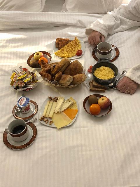 room service, breakfast in bed, hotel bayonne etche ona best western premier, bordeaux, france