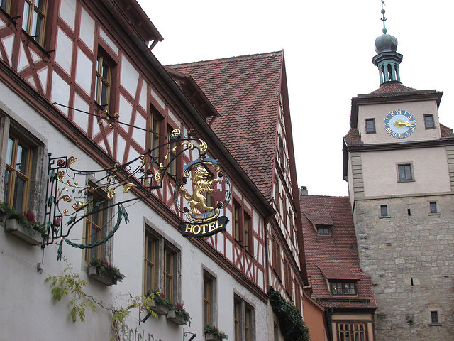 siebers tower, rothenburg ob der tauber, germany