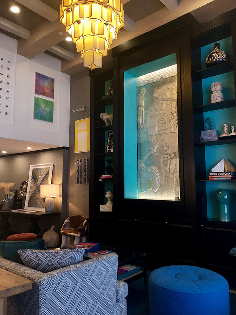 window to the past, jon oshanna, mission dolores art, feeling cozy at hotel triton san francisco, hotel lobby