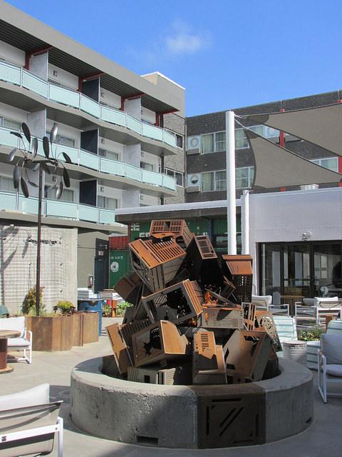 Hotel Zephyr, San Francisco, fire pit