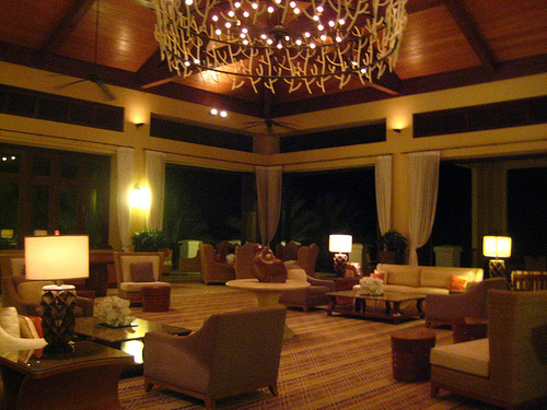 """Hyatt Regency Curacao"" lobby, Dutch Caribbean"