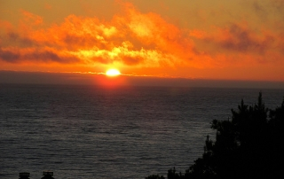 sunset, Hyatt Carmel Highlands