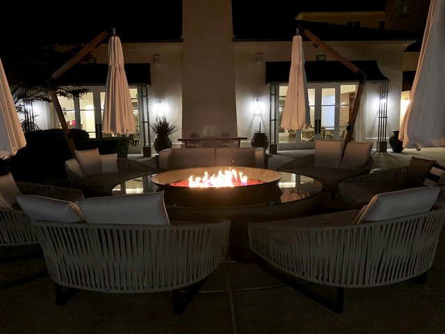 outdoor fire pit, hyatt regency sonoma wine country, santa rosa hotel