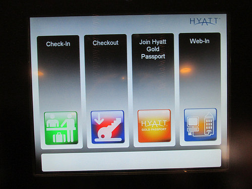 """""""Hyatt Express Check-in Kiosk"""""""