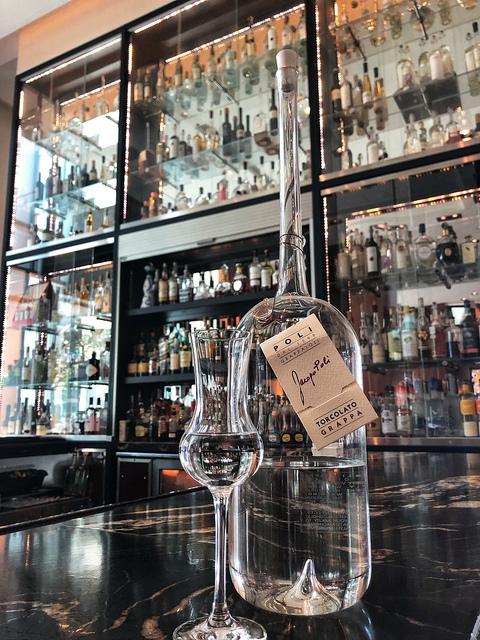 intercontinental hotel san francisco grappa bar, jacopo polio grappa from italy, sf hotel grappa bar