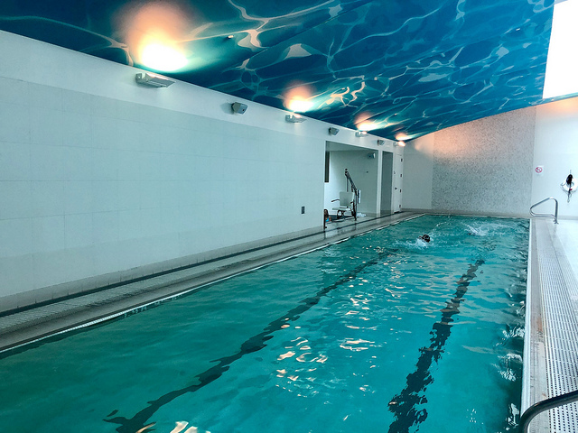 indoor swimming pool, intercontinential san francisco hotel review, luxury hotel with pool near moscone center