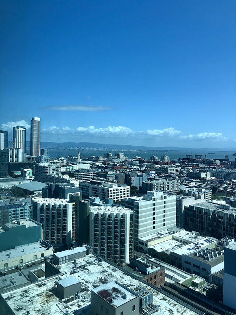 intercontinental san francisco hotel review, san francisco soma views, san francisco skyline, room with a view