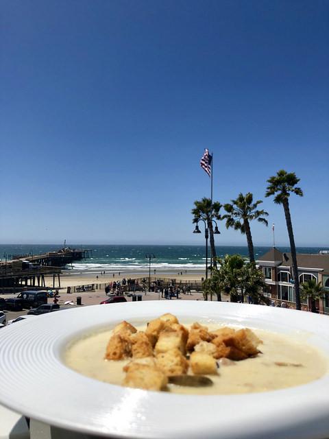 clam chowder, pismo beach, inn at the pier, california central coast