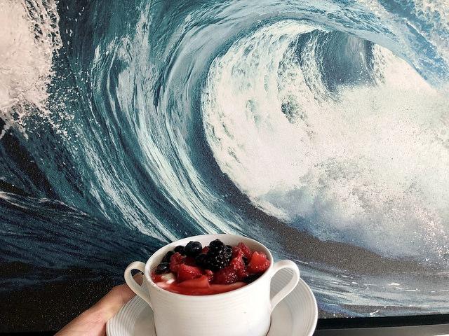 yogurt with berries, blonde restaurant, inn at the pier, pismo beach, california
