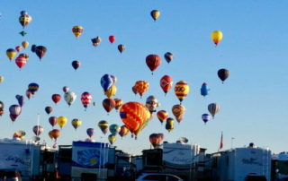 international balloon fiesta rv park, albuquerque, new mexico, hot air balloon