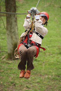 jamie rhein, travel writer, zipline, ohio
