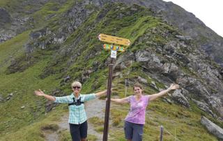 kathy wharton, lyndia sorrick, trekking, switzerland, alpine pass route