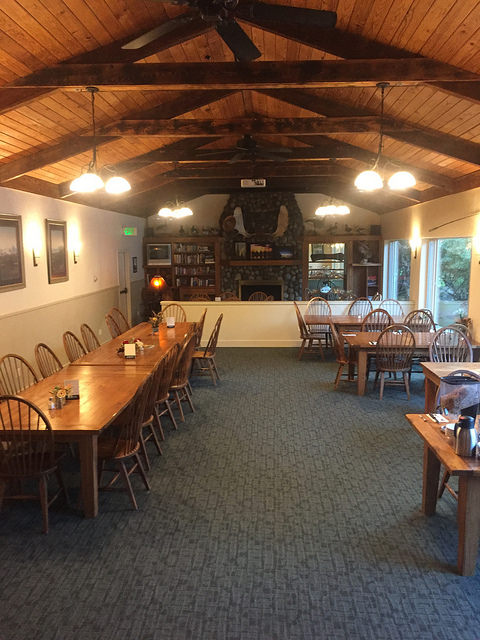 king salmon lodge dining room, steak night, king salmon, alaska