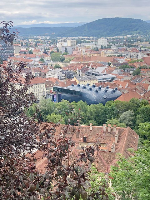 Kunsthaus Graz or Graz Art Museum is a popular landmark in Graz Austria and is referred to as the friendly alien for its unique shape