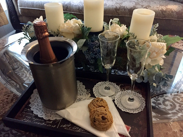 gluten free cookies, sparkling wine, bed & breakfast, la belle epoque, napa, california