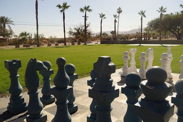 chess board, la casa zoro, borrego springs, california