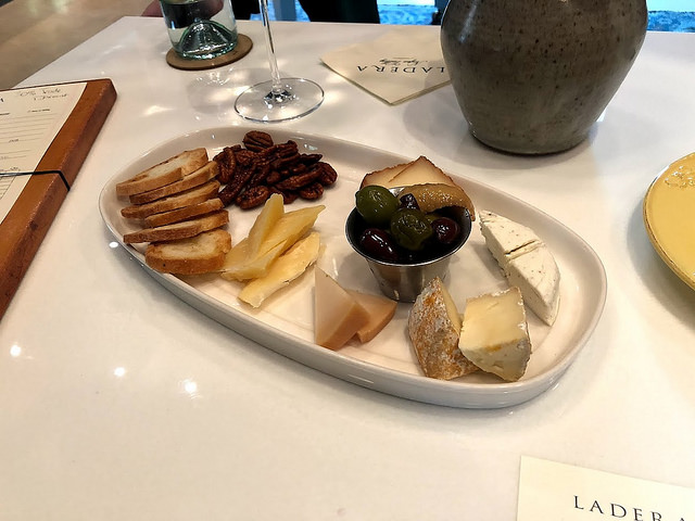 cheese tasting, ladera wine tasting, cheese plate, napa valley
