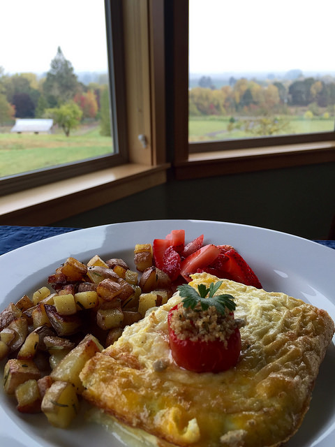 breakfast, le puy, willamette valley, wine country