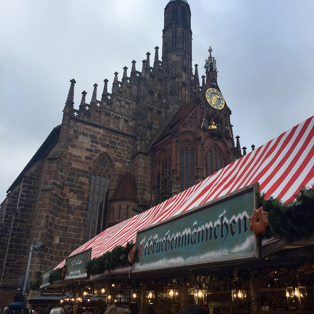 nuremberg, christmas market, church of our lady