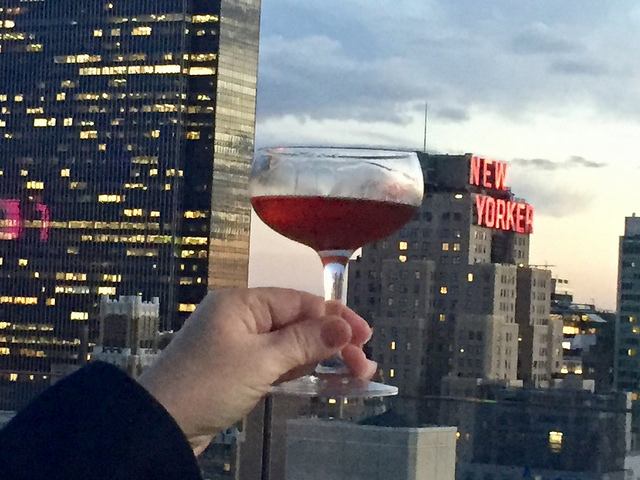 manhattan, cocktail, lovage rooftop lounge, new york