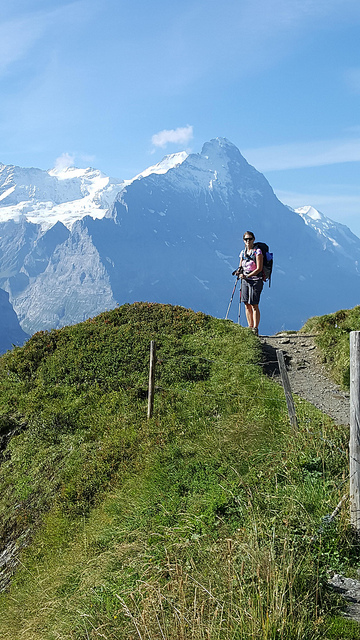 lynda sorrick, swiss alps, switzerland, alpine pass route, hiker