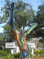 """Colorized Tree Sculpture Marlin Miller"""