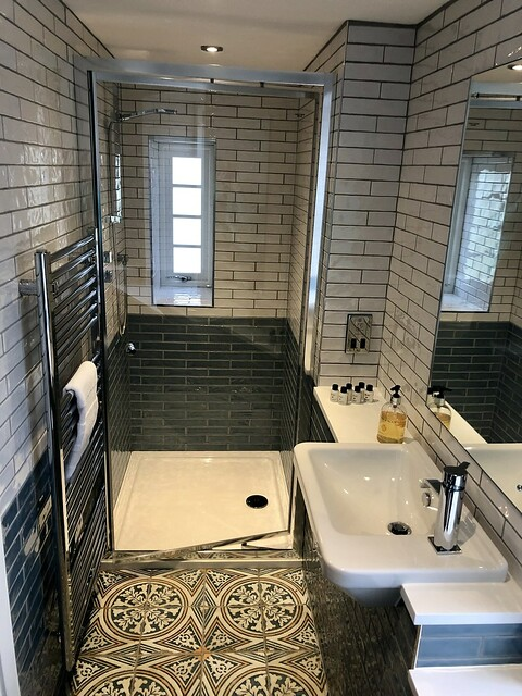 ensuite bathroom, walk-in shower, mill house b&b bathroom