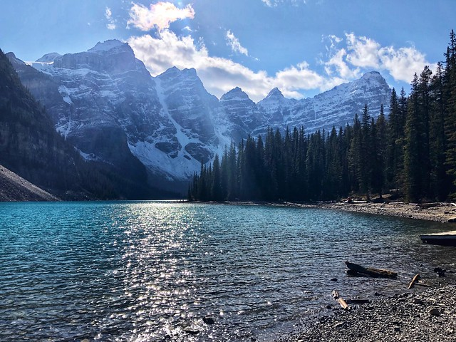 Moraine Lake in Banff National Park with Ten Peaks.