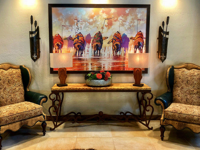 murieta inn and spa, native american artwork, equestrian hotel, rancho murieta hotel