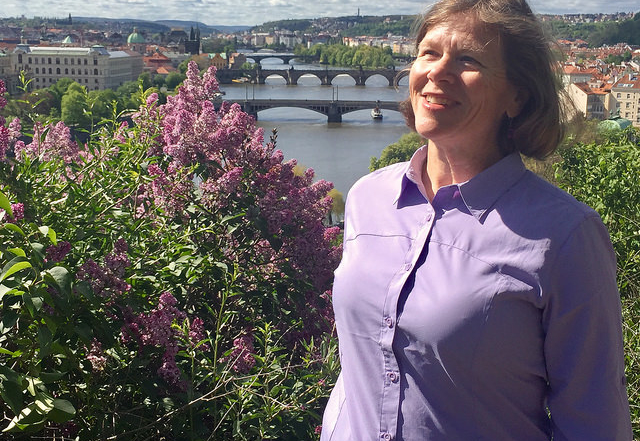 Nancy Brown White Sierra Gobi Desert Long Sleeve shirt in Prague, Czech Republic640x480