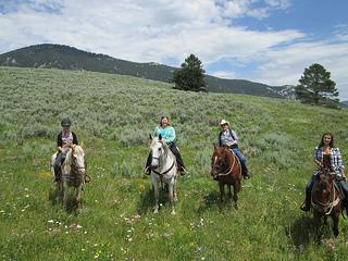 Lone Mountain Ranch horseback riding