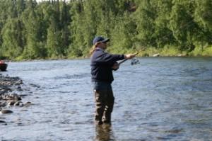 Travel Writer, Nancy D. Brown, fishing, alaska, yetna river