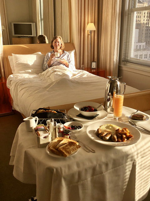 room service, clift royal sonesta hotel review, the clift san francisco, union square hotel, travel blogger nancy d brown