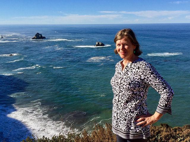 nancy brown, coolibar uv beach wear, big sur, california