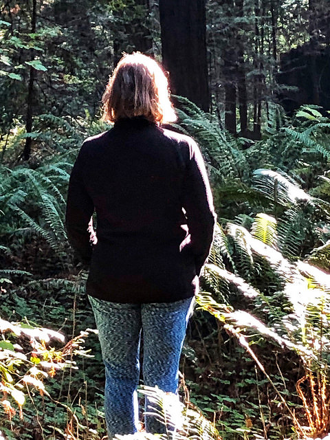 nancy d brown, white sierra travel apparel, forest bathing, navarro river redwoods state park, northern california, 8 gifts for the traveler