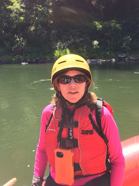 nancy d brown, lifejacket, rogue river, river rafting, southern oregon, row adventures