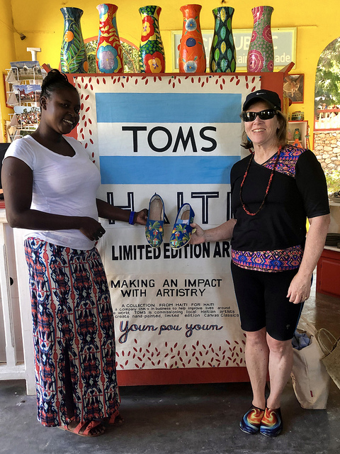 art in haiti making an impact, toms shoes, canvas classic shoes, labadee haiti