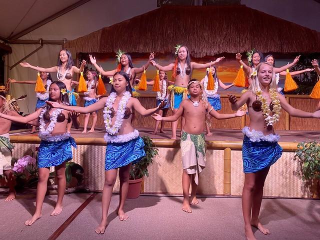 Keiki Hula dancers at Napili Kai Beach Resort, Maui, Hawaii.