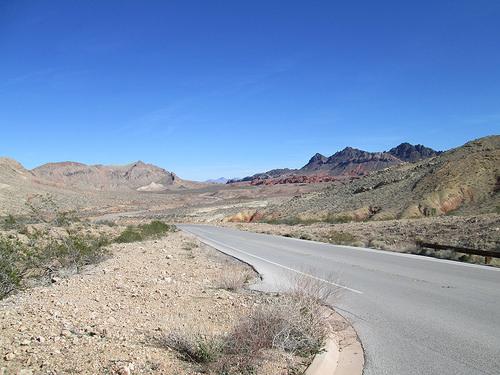 Nevada, desert, road