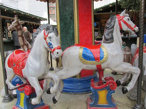 carousel horses, Passau, Germany