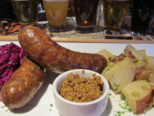 """Peter B's Brewpub"" sausages"