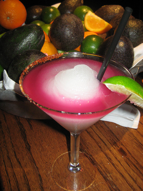 prickly pear margarita, boudros, san antonio riverwalk, texas, margarita
